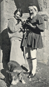 Susan Glaspell and George Cram Cook with their fatal puppy dog at Delphi, 1923.