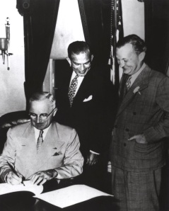 President Truman signing the Fulbright Act into Law, August 1, 1946