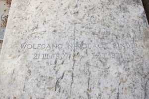 Wolgang Binder's grave. Click to enlarge photo