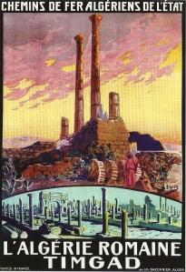 Poster of the Algerian railways advertising the Roman antiquities of Algeria