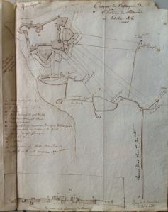 Plan of siege of the Castle of the Morea by Col. Antoine-Charles_Felix Hecquet