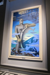 Il grande nocchiere by Ernesto Michahelles (known as Thayaht), 1939; also my favorite piece in the exhibit