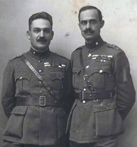 Colonels Stylianos Gonatas and Nikolaos Plastiras, ca. 1923.