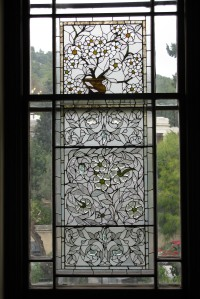 The decorated window at the Director's residence