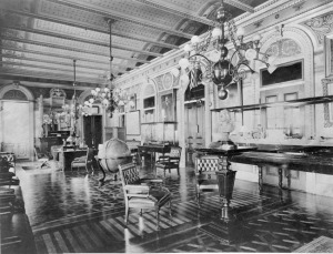 McPherson's studio created the wooden floor in the Vice President's Office