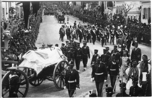 The funeral procession for King George I. Click to enlarge
