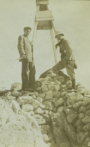 William B. Dinsmoor with the Secretary of the School, Cyrus Ashton Sanborn, at Ptoon, 1911