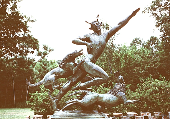"The ""heroic"" size of Actaeon in the Brookgreen Gardens"