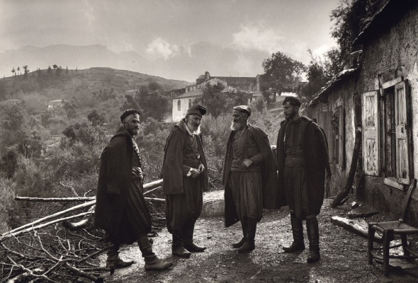 Cretan men in the 1920s. Photo by Fred Boissonas