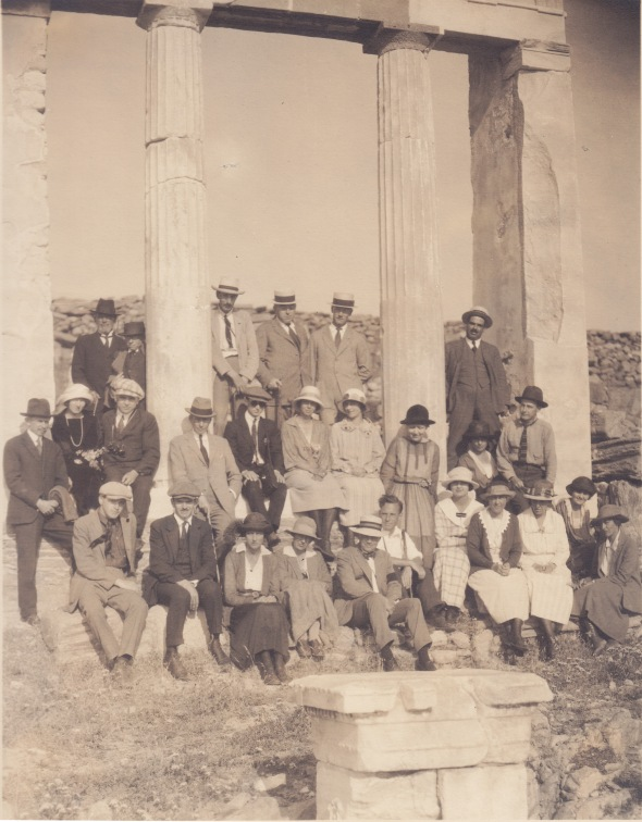 The passengers of Zion at Delos, 1923 (ASCSA Archives, Carl W. Blegen Papers)