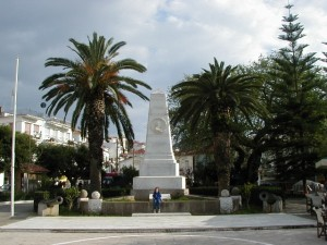 Three Admirals Monument in the Plateia of Pylos