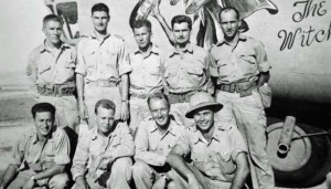 """U.S. B-24 Liberator """"The Witch"""" and Crew that Bombed Navarino in October, 1942"""