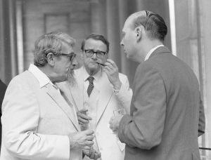 William B. Dinsmoor, Jr., Henry Immerwahr, T. Leslie Shear, ca. 1980