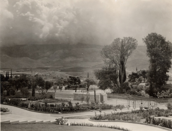 View from the Gennadius Library towards Hymetus, ca. 1926 (ASCSA Archives)