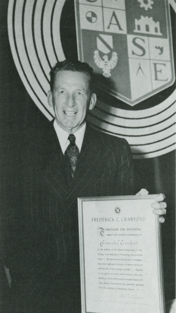 Fred Crawford receiving one of many honorary awards, this one from Case Western Reserve University