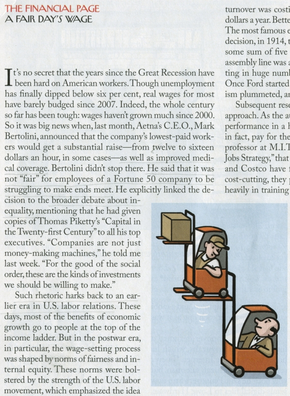 Excerpt from The Financial Page, The New Yorker, Feb. 9, 2015.