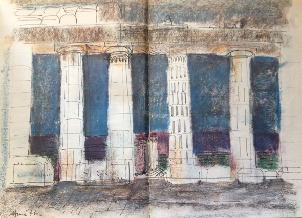 "Poor's ""blue Parthenon"" that Miller liked so much (Poor and Miller 1964, pp. 17-18)"