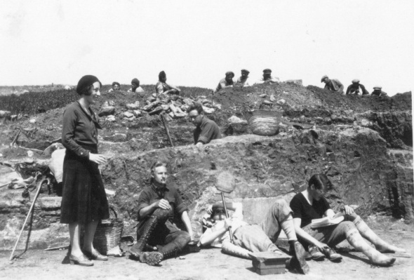 Olynthus Excavations, 1931. Source: ASCSA Archives, Saul and Gladys Weinberg Papers
