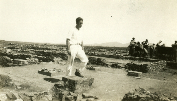 Walter Graham at Olynthus, 1931. (ASCSA Archives, Saul and Gladys Weinberg Papers)