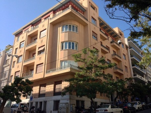 The apartment building on Ploutarchou 3 (known also as the πολυκατοικία Μαυρομάτη), built in 1933.