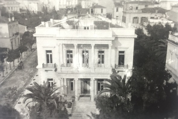 The headquarters of the American REd Cross in Athens, 1918-1920