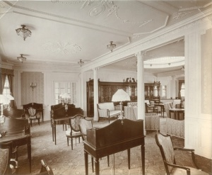 The interior of Lusitania
