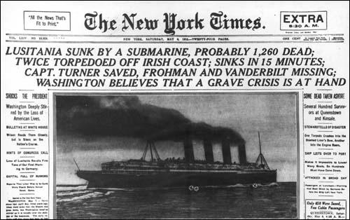 """""""This Horrible Crime Will Have to be Paid For"""": The Sinking of the LUSITANIA (2/6)"""