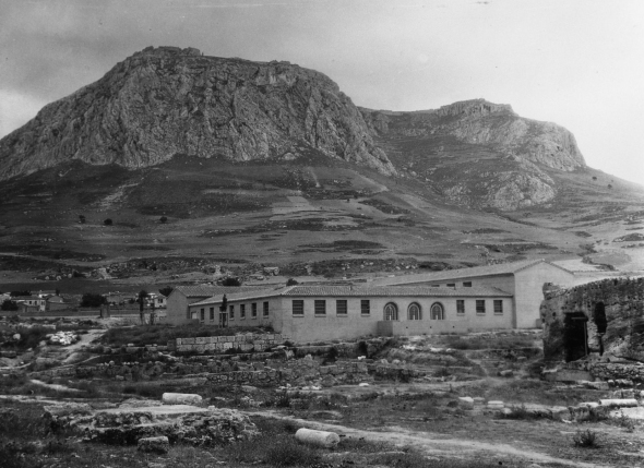 The Archaeological Museum of Corinth in 1934. From ASCSA, Archives, Corinth Excavations
