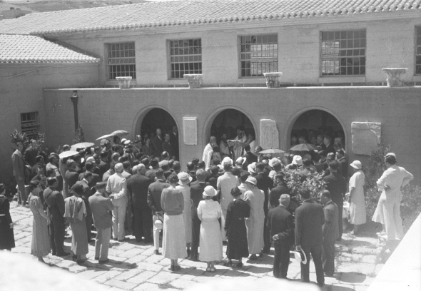 From the opening ceremony of the Corinth Museum, April 29th, 1934. From the ASCSA Archives, Corinth Excavations