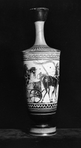 The black-figure lekythos by