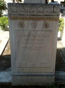 Isabel Florence Thompson, 1920-1925. Photo: Natalia Vogeikoff-Brogan 2012.