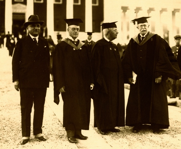 Judge Loring (far right) at the dedication of the Gennadius Library, 1926. Source: ASCSA Archives.