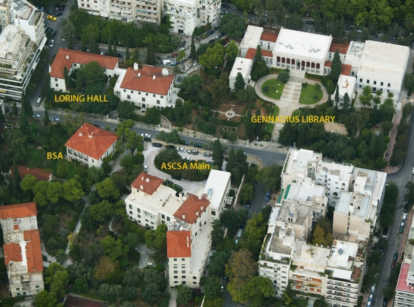The British School of Athens and the American School of Classical Studies at Athens in 2007.
