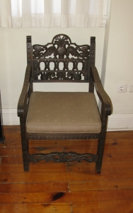 Chair from Skyros, originally at the Blegen House (today at the ASCSA Director's house). ASCSA Archives.