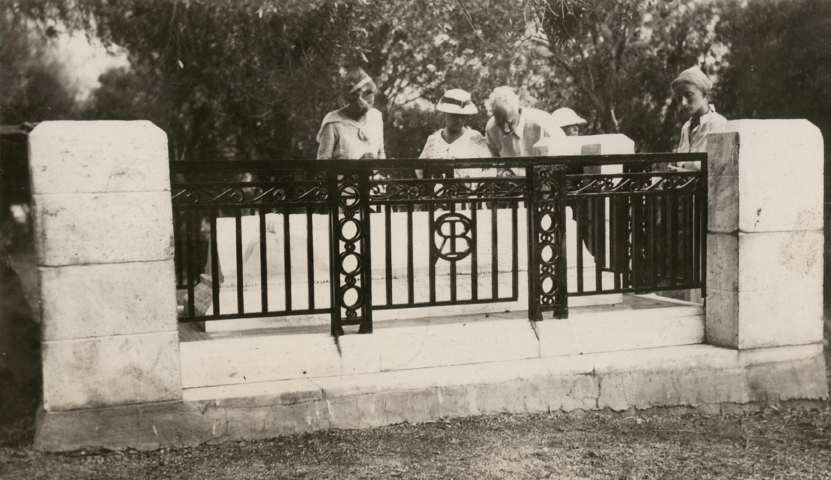 ASCSA members at Brooke's grave, 1938. Doreen Canaday Spitzer Photographic Collection.