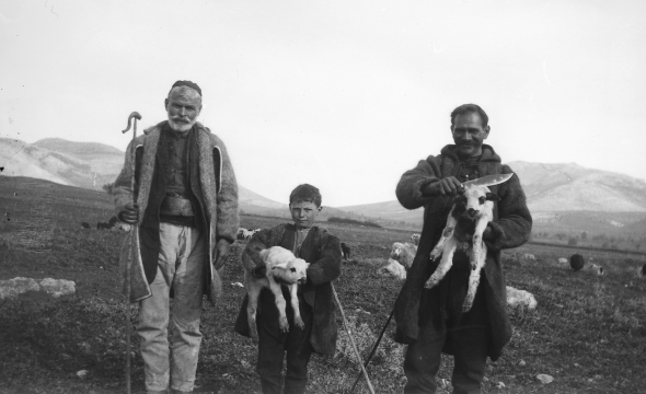 Shepherds on the slopes of Parnassus. ASCSA Archives, Dorothy Burr Thomspon Photographic Collection.