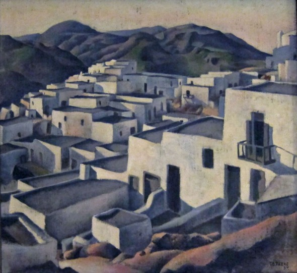 Skyros. Oil by Georg von Peschke, 1937. ASCSA, Director's House