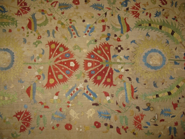 Skyrian bed pillowcase, originally part of the Blegen House. ASCSA Archives