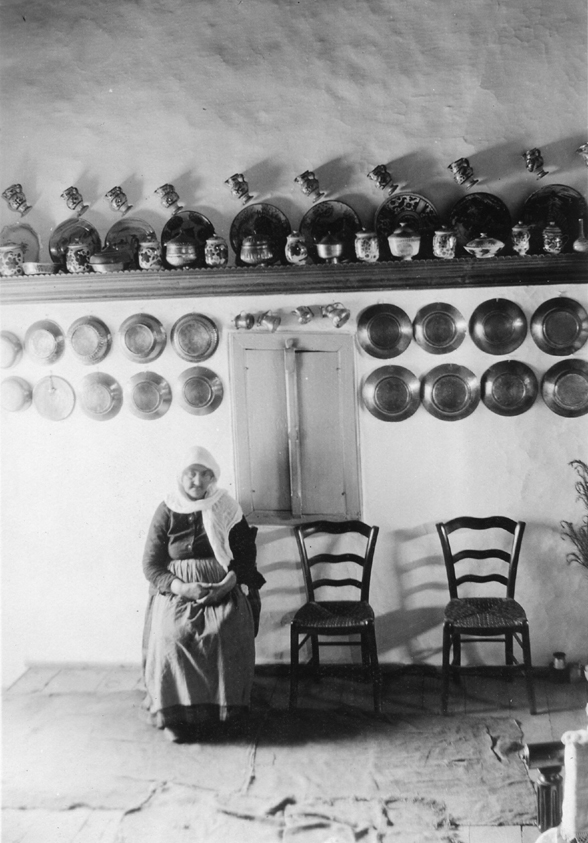 Skyros, house interior, 1931. ASCSA, Dorothy Burr Thompson