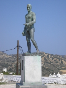 Rupert Brooke's statue by Michael Tombros on Skyros