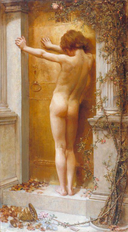Love Locked Out, 1890. By Anna Lea Merritt.