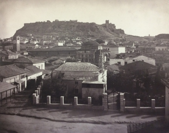 Athens in 1869. Photo by William J. Stillman who had settled in Athens by late 1868. Stillman, who wrote frequently in the Nation, would later criticize fiercely Schliemann's excavations in Troy and Mycenae.
