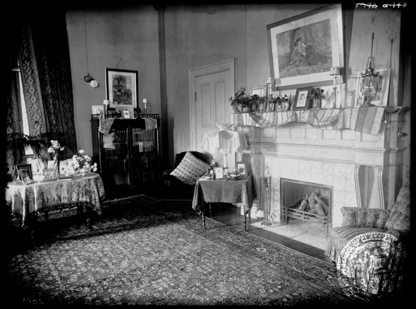 "The ""saloni"" in the Director's House, 1910s. A rare indoor photo from the ASCSA Archives."