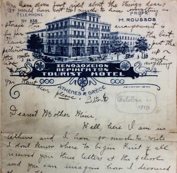 One of Zillah Pierce Dinsmoor's letters to her mother, October 1910
