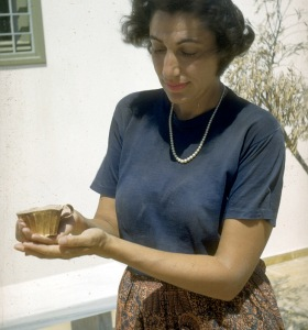 Betty Grossman at Mycenae, 1958
