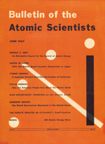 Martyl's design of the Doomsday Clock for the Bulletin of Atomic Scientists