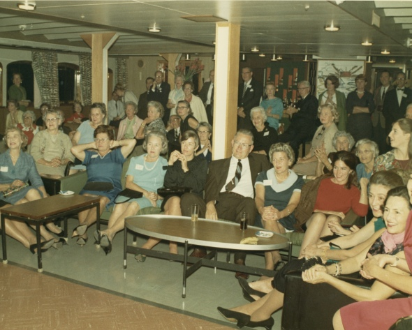 Participants of the 1966 cruise. ASCSA Archives.